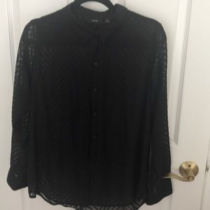 Size large see thru button up blouse